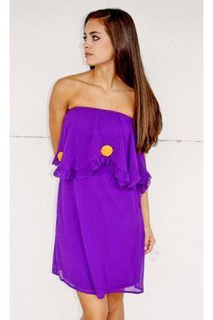 Basically Me Purple Strapless Dress