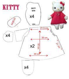 Hello Kitty doll pattern