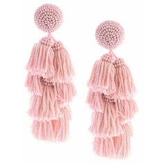 Sachin  Babi Chacha Earrings  Bubble Gum ($250) ❤ liked on Polyvore featuring jewelry, earrings, natural, long clip on earrings, tassel earrings, long clip earrings, long tassel earrings and clip on tassel earrings