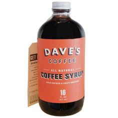 Dave's 16 Oz Original All Natural Cold Brewed Coffee Syrup * Details can be found by clicking on the image.