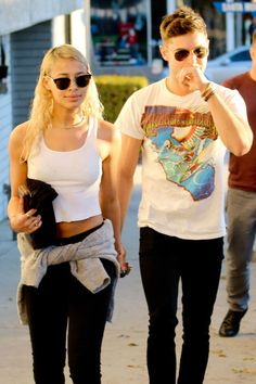 Zac Efron and his (rumored) new girlfriend Sami Miro go out for lunch in West Hollywood.