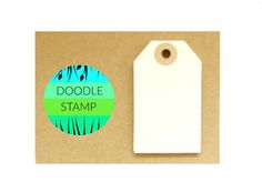 RECTANGLE LUGGAGE TAGS  Pack of 14 Cream 140 gsm by DoodleStamp