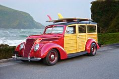 1937 Ford Woody Surf Wagon Really old school