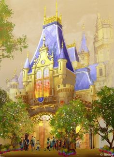 Enchanted Storybook Castle concept art, Shanghai Disneyland