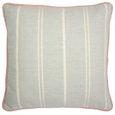 Plain Vintage Cushion in Duck Egg by Susie Watson