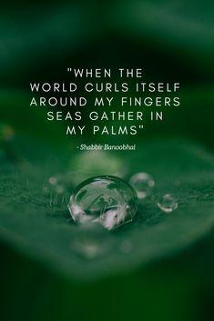 when the world curls itself around my fingers seas gather in my palms - Shabbir Banoobhai  #SouthAfricanPoetry, #ShabbirBanoobhai, #Sensitivity, #Misunderstood, #art