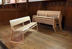 Stackable Theo Church Benches
