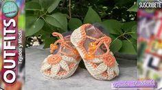 Tutorial zapatitos bebé crochet. Parte II, sandalia. - YouTube