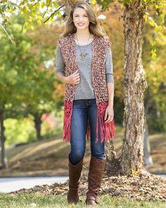 Suede Circles California Dreamin' Vest Free Crochet Pattern
