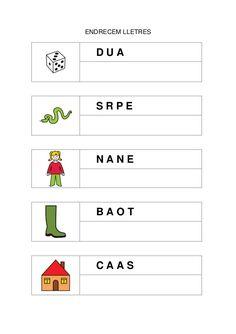 Fitxes per treballar la consciència fonològica Catalan Language, Math About Me, Borders For Paper, Montessori, Acting, Classroom, Education, Learning, School