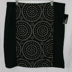George Misses Women's sz 4X Black Laser Cut Ponte Skirt NWT all stretch #George #Ponte