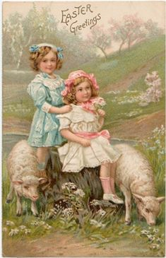 Easter vintage postcards Discussion on LiveInternet - Russian Service Online Diaries