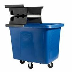 "RUBBERMAID Cube Trucks for Bulk Handling- LIDS & ACCESSORIES SOLD SEPERATELY - Dark blue by Rubbermaid. $466.00. Solid one-piece molded 0.24"" thick polyethylene construction is extremely durable and crack-resistant—will not rust, dent, or leak. The tough and durable design of the RUBBERMAID Cube Bulk Truck is ideal for industrial and heavy-duty commercial applications such as waste management, work-in-process, construction areas, or food processing. Metal base frame is permane..."