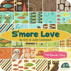 S'more Love Charm Pack Eric & Julie Comstock for Moda Fabrics