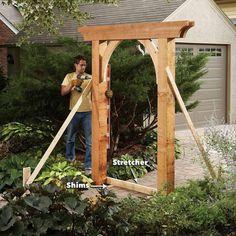 Outdoor Pergola, Backyard Pergola, Pergola Plans, Backyard Landscaping, Pergola Ideas, Arbor Ideas, Garden Archway, Garden Entrance, Garden Gates