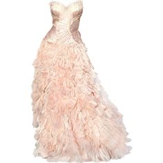 Roberto Cavalli - edited by Satinee ❤ liked on Polyvore featuring dresses, gowns, vestidos, long dresses, pink dress, pink gown, roberto cavalli dresses and pink ball gown