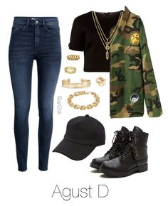 """""""Born tiger ain't gonna live like a dog"""" - Agust D  by ari2sk on Polyvore featuring polyvore, fashion, style, Ted Baker, WithChic, H&M, Shay, Calvin Klein, Kenzo, Stella & Dot, rag & bone and clothing"""
