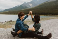 Dreamy couple photos at Sprays Lake in Banff National Park shot by Alberta Wedding & Elopement Photographer Havilah Heger. Couple Photos at Banff National Park Engagement Couple, Engagement Session, Engagement Photos, Banff National Park, National Parks, Before We Go, Mountain Style, Our Wedding Day, Couple Shoot
