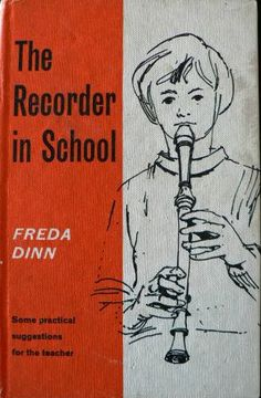 vintage school book The RECORDER in SCHOOL vintage books by Inktiques, $25.00