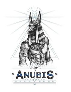 Anubis was a jackal-headed god of the dead. Anubis was a part of the mummification process, and he also weighed the hearts of deceased souls against the feather of Maat in the afterlife; he then determined the soul's worthiness.