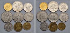 NumisBids: Nomisma Spa Auction 50, Lot 314 : Pio XII (1939-1958) Divisionale 1945 A. VII – 100, 10, 5, 2 e una...