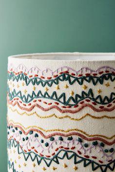 Embellished Wave Lamp Shade | Anthropologie