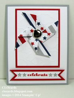 Pinwheel Celebration by CLOcards - Cards and Paper Crafts at Splitcoaststampers