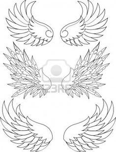 wings stencil - Google Search