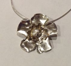 Eco Silver (925) Dog rose Necklace Rose Necklace, Anniversary Gifts, Silver, Schmuck, Birthday Presents, Pink Necklace, Wedding Anniversary Gifts, Birthday Gifts, Money
