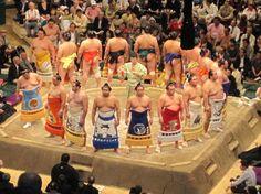 Sumo wrestlers in Tokyo, Japan