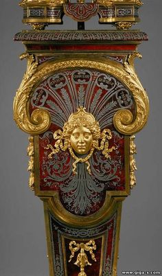 Jacques III Thuret or more likely his father, Isaac II, André-Charles Boulle after designs supplied by Jean Berain: Clock with Pedestal (Pendule sur gaine) French Furniture, Antique Furniture, Geek Furniture, Pallet Furniture, Furniture Ideas, Furniture Logo, Outdoor Furniture, Furniture Design, Art Nouveau