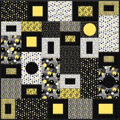 Kit Urbanista Yellows and Blacks Quilt  by Studio E. $69.00, via Etsy.
