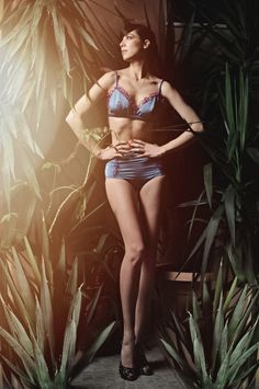 Veruska Puff modeling the Velvet Room