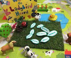 Book Corner Eyfs, What The Ladybird Heard Activities, Julia Donaldson Books, Eyfs Activities, Book Corners, Sensory Play, Small World, Preschool, Creatures