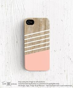 Geometric iPhone 5 case stripe iPhone case silicone iPhone 4s case stripe iPhone 5s case tpu wood iphone 4 case wood iphone 5 case pink c185 on Etsy, $22.99