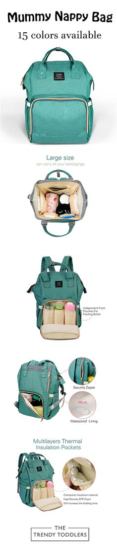 SALE 65% + FREE SHIPPING  Shop Our Multi-Functional Mummy Nappy Bag
