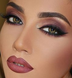 Eggi - make up dreams - Day Eye Makeup, Makeup For Green Eyes, Glam Makeup, Makeup Inspo, Eyeshadow Makeup, Bridal Makeup, Wedding Makeup, Makeup Inspiration, Face Makeup