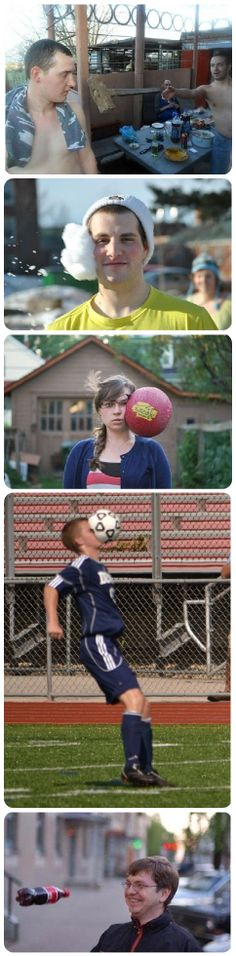 Perfectly timed photos.