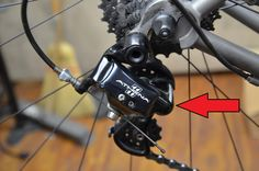 The rear derailleur is a source of most bike problems