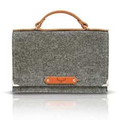 Felt Bag With Leather Handle  SPARROW BAG by MOOSEdesignBAGS, $89.00