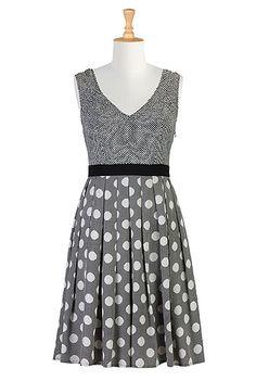 Black and white graphic print dress