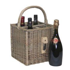 The best Antique Wash Finish Wine Bottle Drinks Basket http://redhamper.co.uk/antique-wash-finish-wine-bottle-drinks-basket/  #drinksbaskets #shoppingbaskets