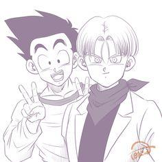 Goku, Goten E Trunks, Trunks And Mai, Animes Yandere, Fairy Tail Anime, Dragon Ball Gt, Rwby, Manga, Geek Stuff