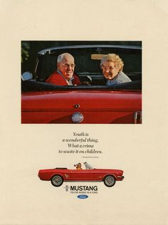 Ford Mustang ad from 1966