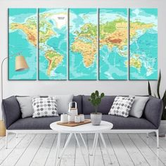 Illustration art fashion art women art flower still life surreal 74841 geographic world map canvas print detailed world map wall art print framed gumiabroncs Images
