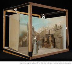 [Roméo et Juliette : Acte III, tableau 2 : place de Vérone : maquette de décor en volume / Eugène Carpezat] - 1888