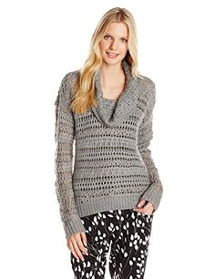 868af5ba8c DKNY Jeans Womens Yarn Mix Crochet Cowl Pullover Smoke XSmall     You can  get