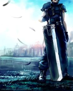 """""""Boy oh boy the price of freedom is steep."""" -Zack my hero """"Boy oh boy the price of freedom is steep."""" -Zack my hero Final Fantasy Crisis Core, Final Fantasy Cloud, Final Fantasy Artwork, Final Fantasy Vii Remake, Fantasy Series, Zack Fair, Video Game Art, Video Games, Gamers Anime"""