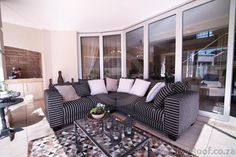 Outside living room / patio flowing out to the garden seen in exclusive estates at myroof.co.za Luxury Estate, Outside Living, Outdoor Furniture Sets, Outdoor Decor, Living Rooms, Patio, Garden, Home Decor, Lounges