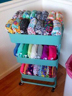 Cloth diaper storage - Stoffwindel Aufbewahrung Idee
